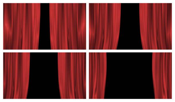 illustrazioni stock, clip art, cartoni animati e icone di tendenza di stage curtains - sipario