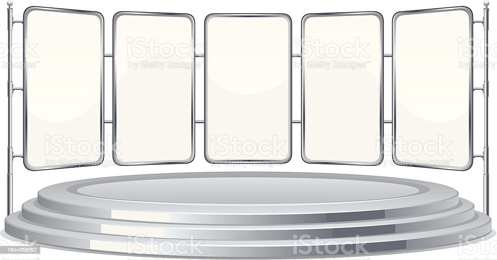 Stage royalty-free stock vector art