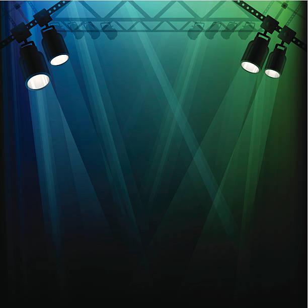 Stage Lights Stage lights background. disco lights stock illustrations