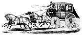 Stagecoach | Antique Transportation Illustrations