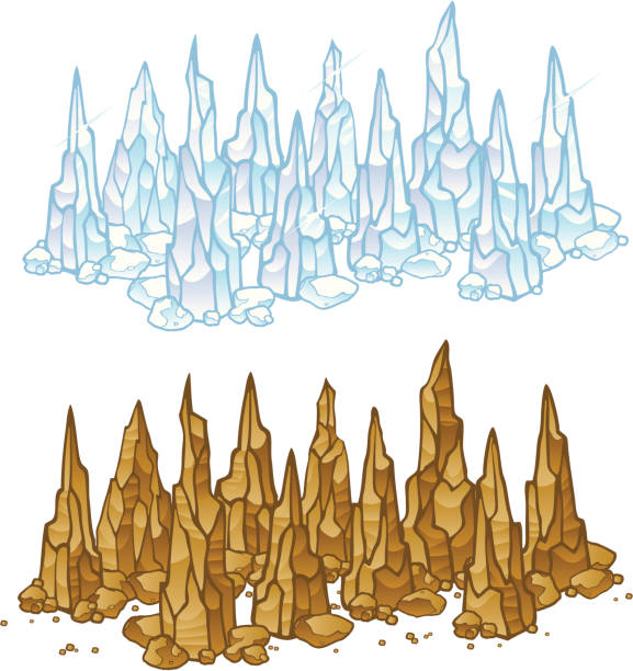 Stalagmites and Ice Crystals