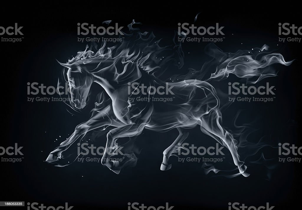 Stallion vector art illustration