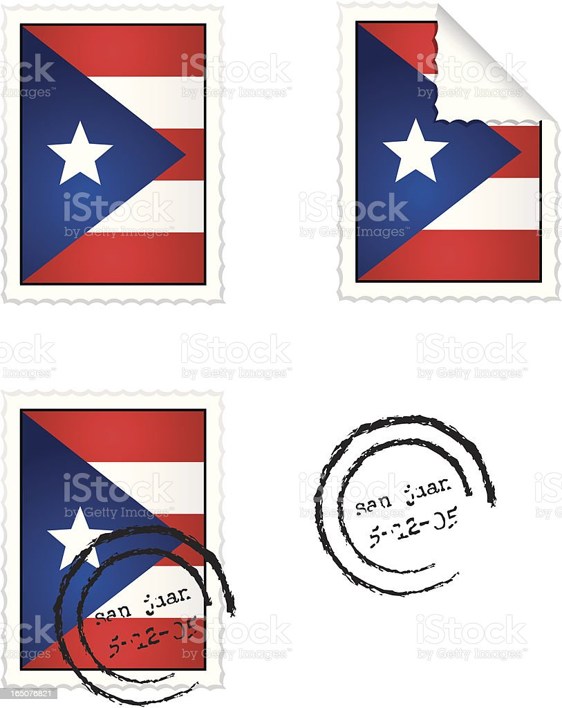 Stamp Series Puerto Rico vector art illustration
