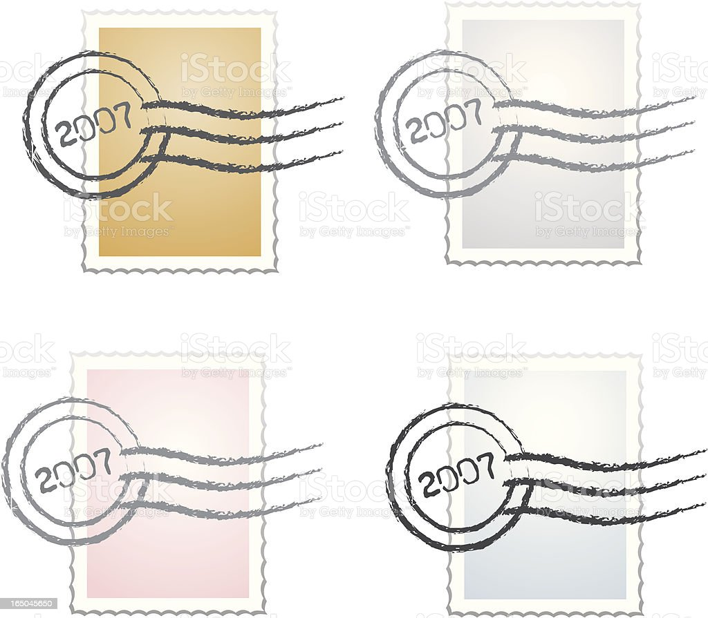 Stamp Series V - Vector Postage Set royalty-free stock vector art