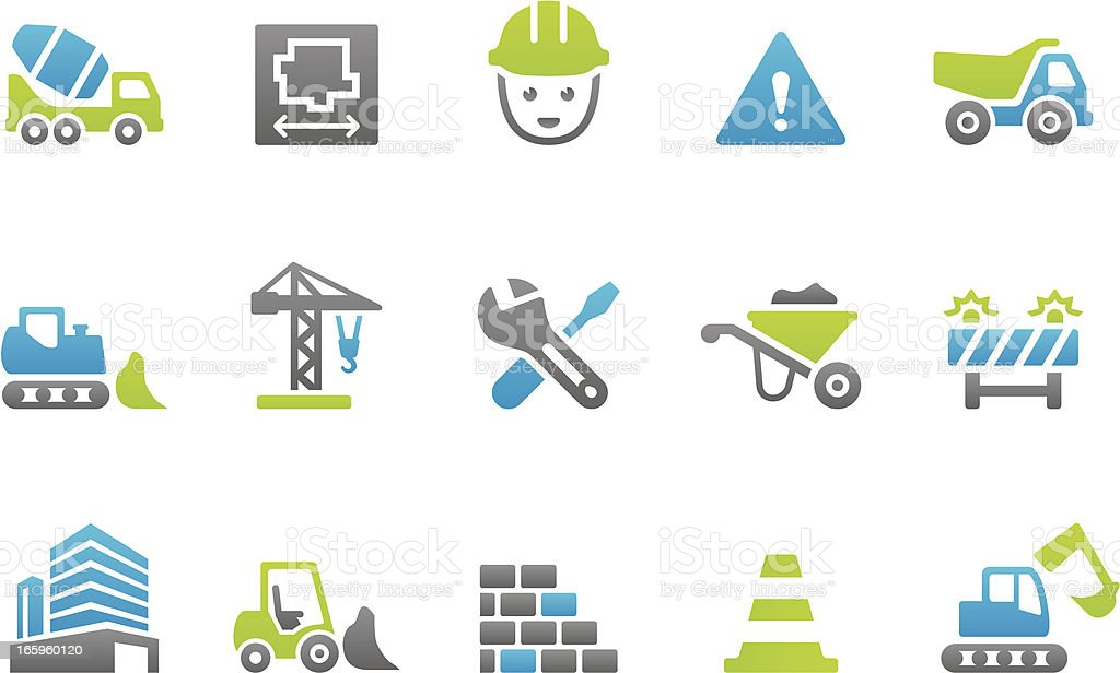 Stampico icons - Construction royalty-free stampico icons construction stock vector art & more images of architecture