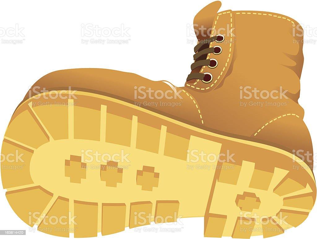 Stamping boot vector art illustration