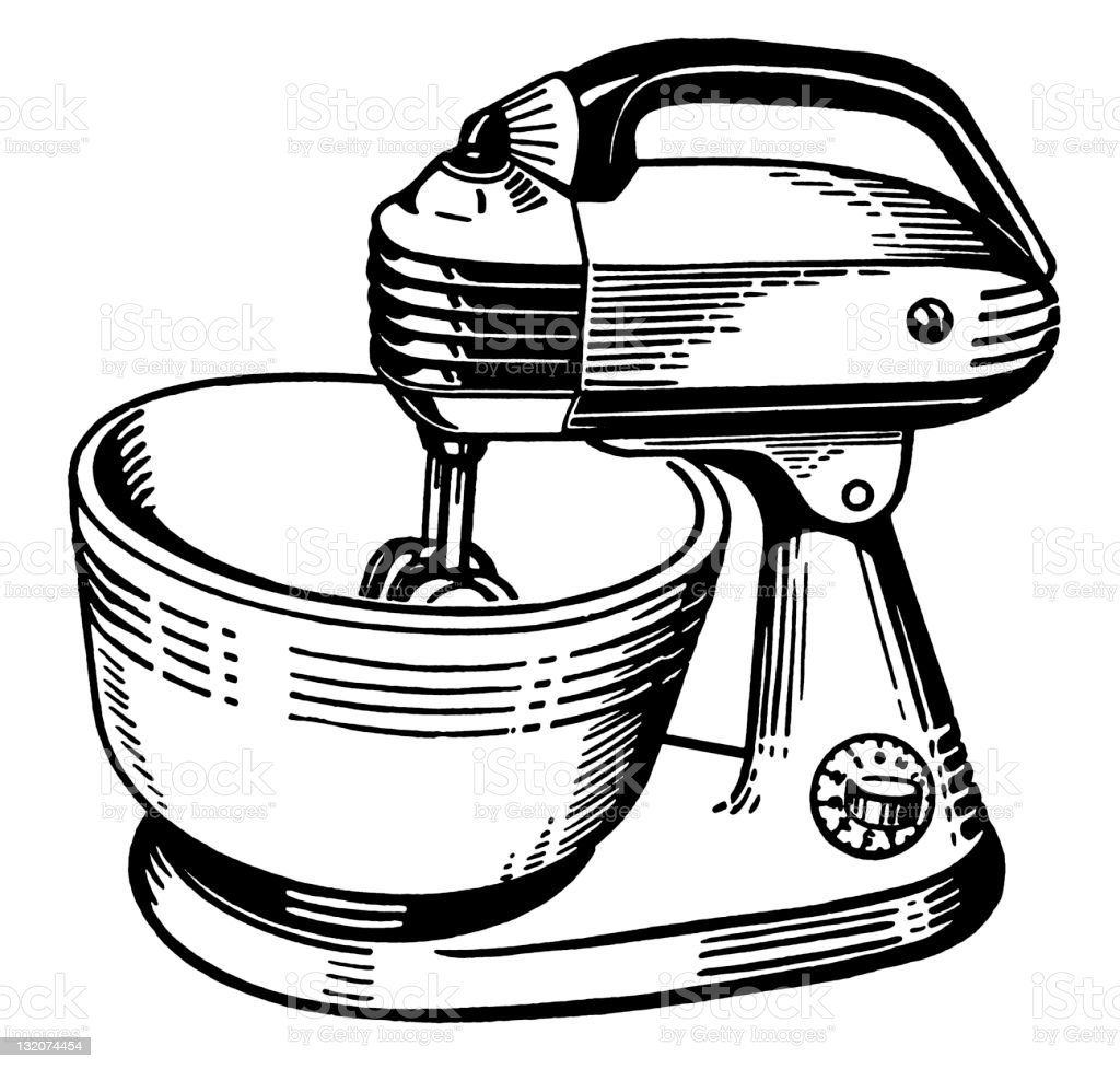 Stand Mixer Stock Vector Art Amp More Images Of Appliance