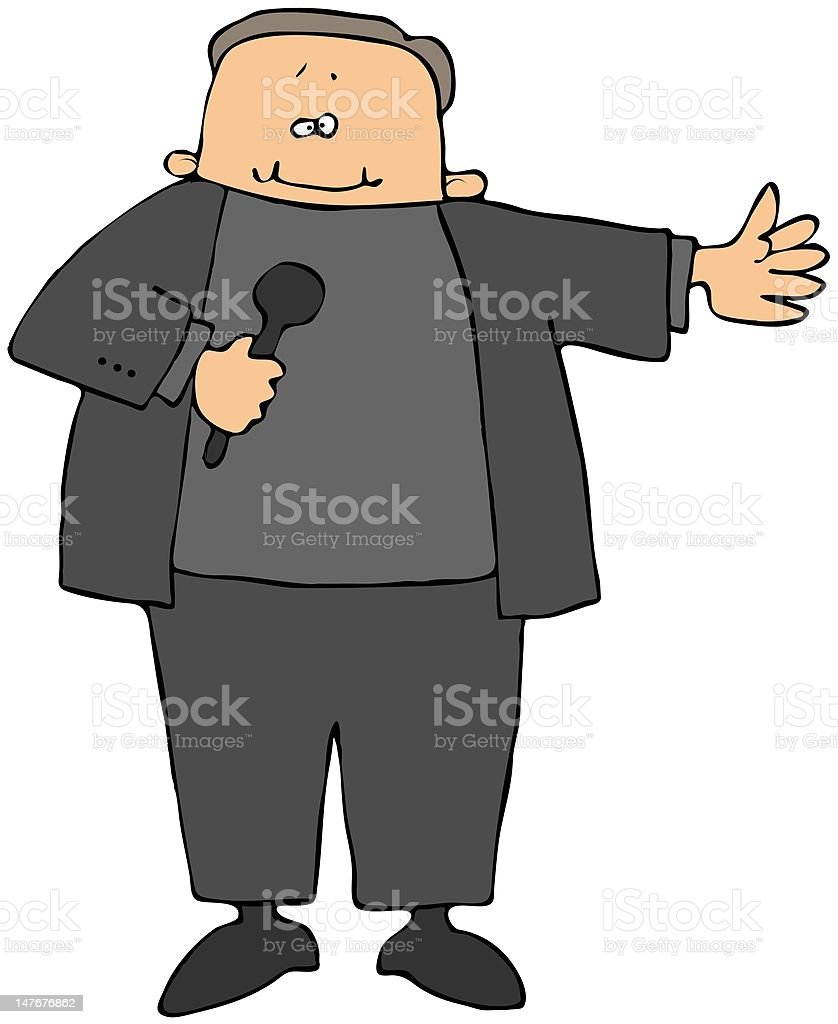 Stand Up Comedian royalty-free stock vector art