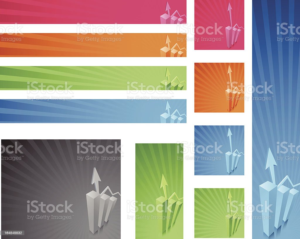 Standard Chart Web Banner Ads royalty-free stock vector art