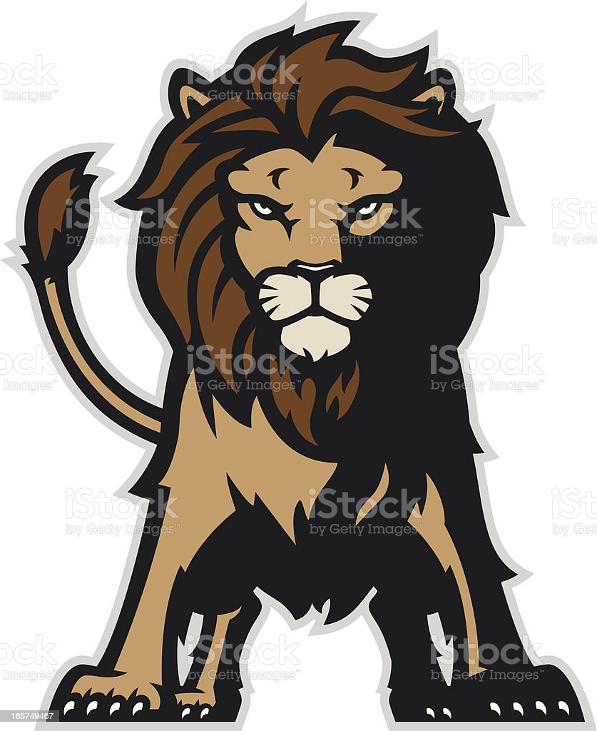 Standing lion vector art illustration