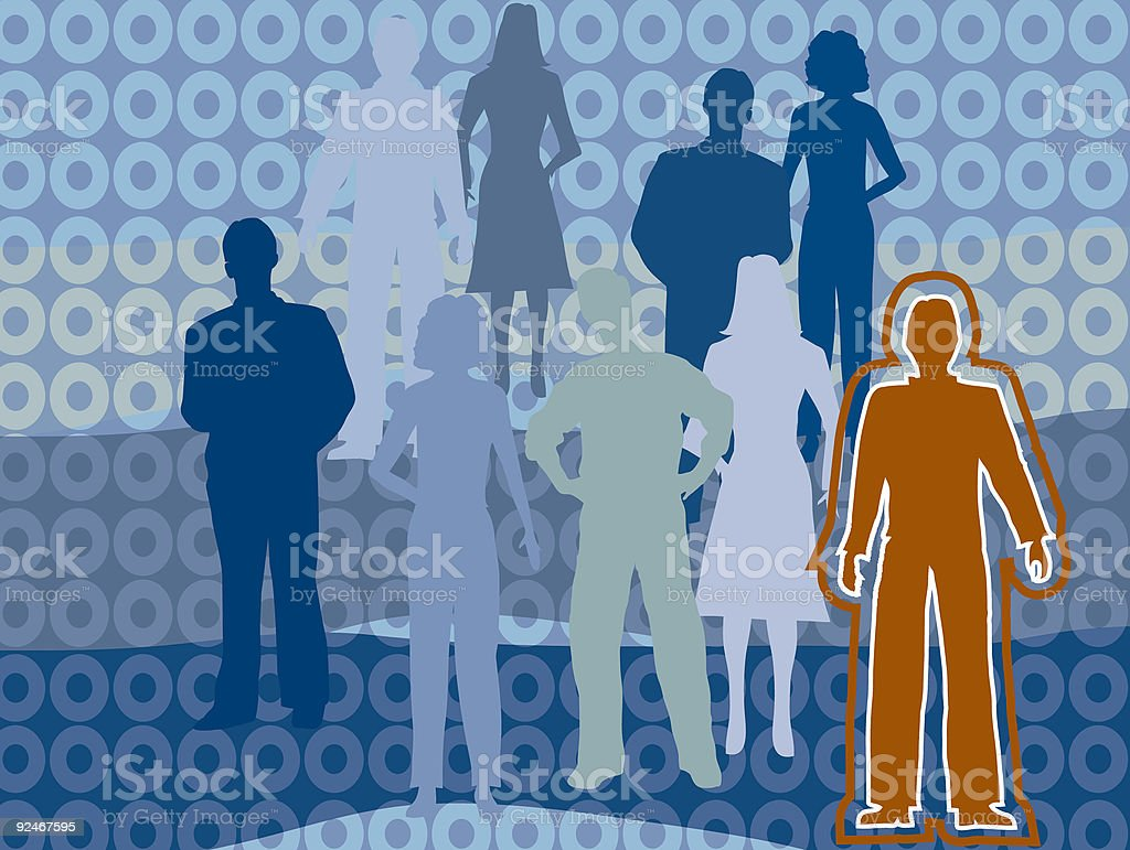 Standing Out royalty-free stock vector art