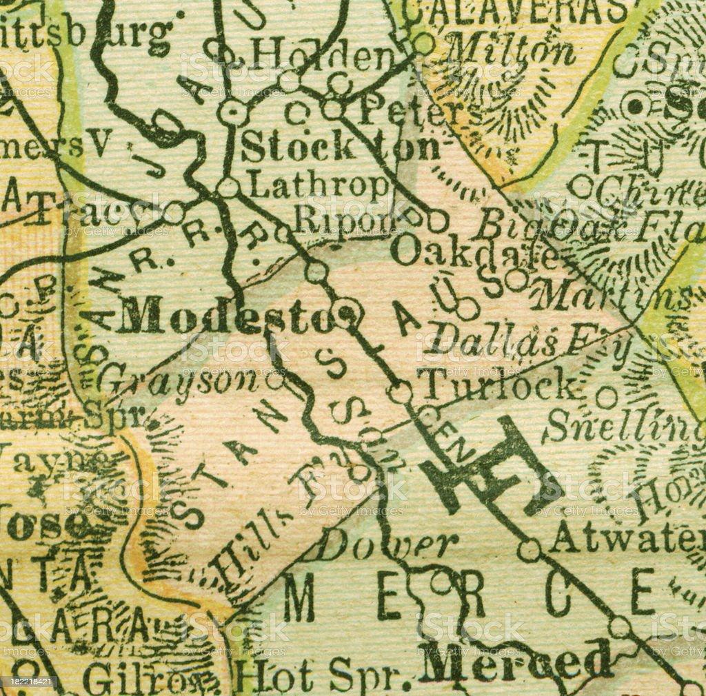 Stanislaus   California County Maps royalty-free stock vector art