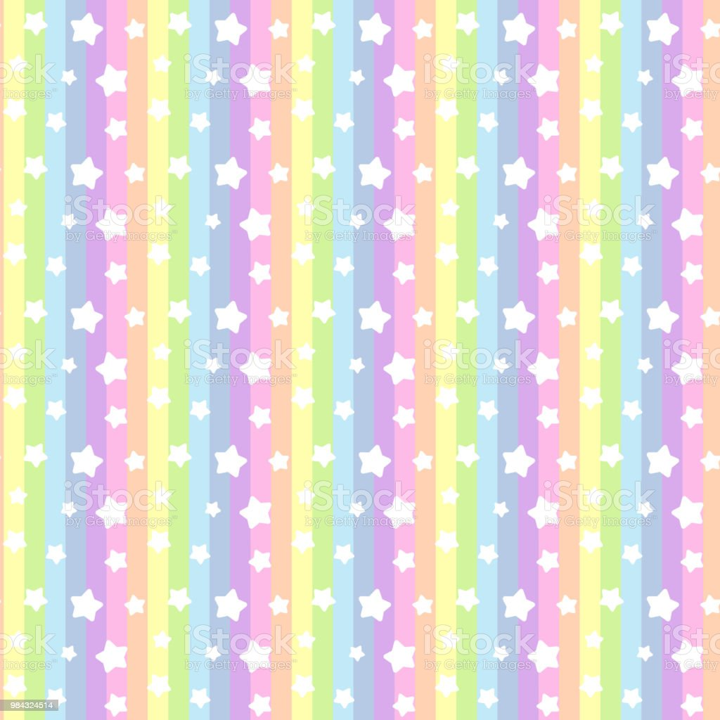 Star and stripe seamless pattern(rainbow) vector art illustration