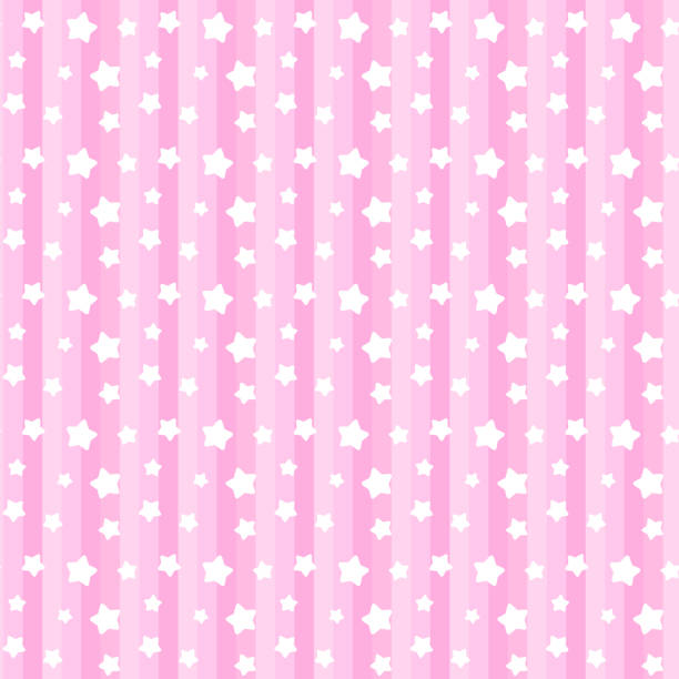 Star and stripe seamless pattern(pink) vector art illustration
