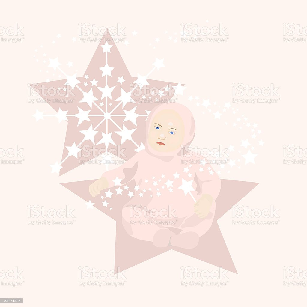 Star Baby Girl royalty-free star baby girl stock vector art & more images of angel
