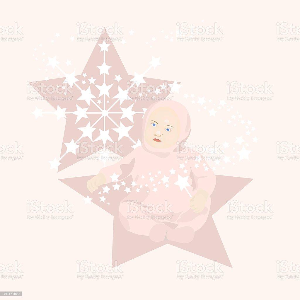 Star niña bebé ilustración de star niña bebé y más banco de imágenes de bebé libre de derechos