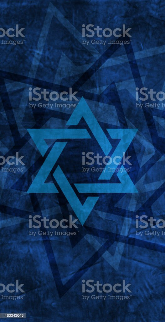 Star of David - Judaism Jewish Faith, Religion Background royalty-free stock vector art