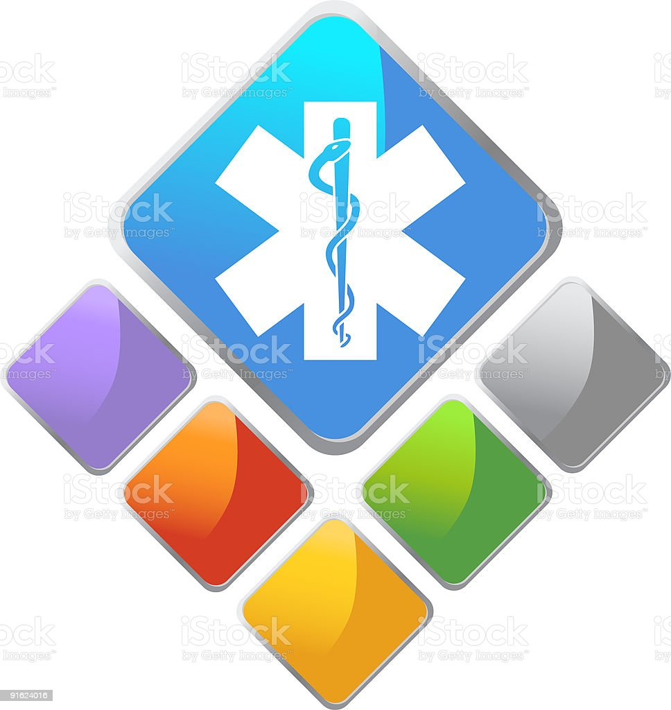 Star of Life: Diamond Series royalty-free stock vector art