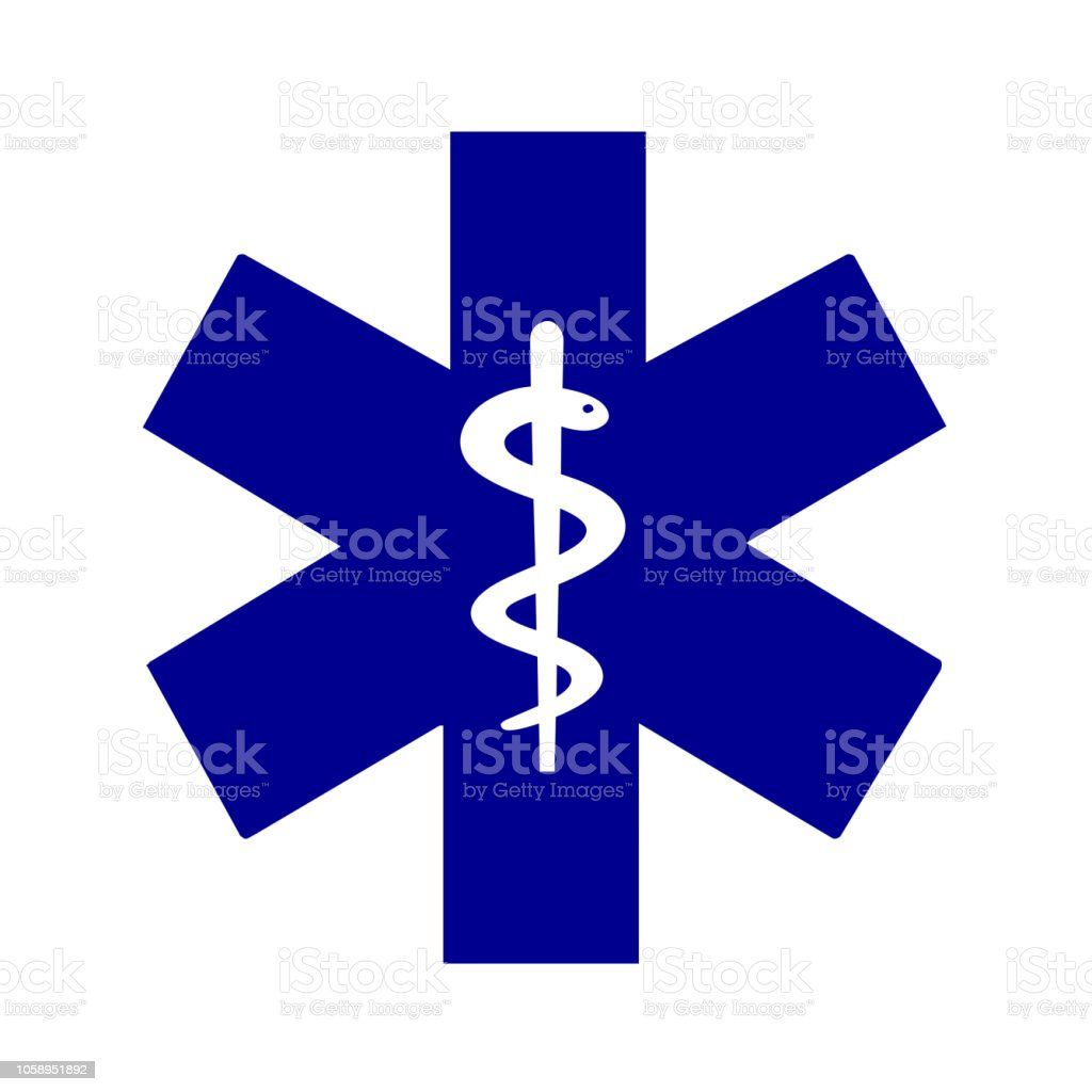 Star of life medical symbol vector art illustration