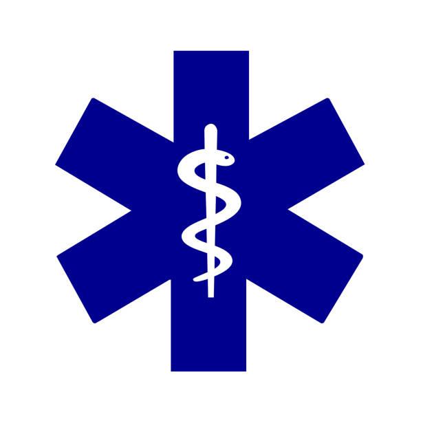 yaşam tıp sembolü yıldızın - first responders stock illustrations