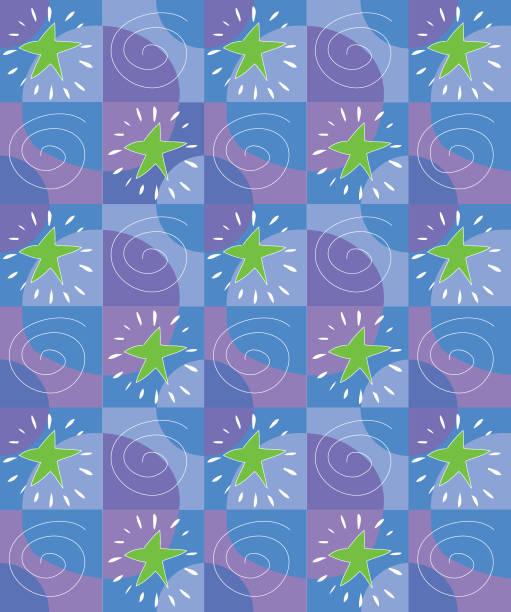 Star pattern blues vektorkonstillustration