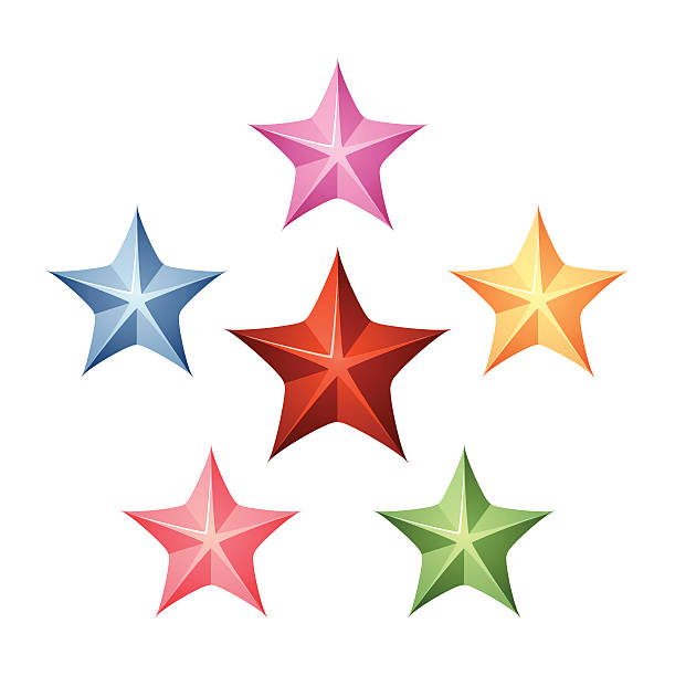 Star shapes vector art illustration
