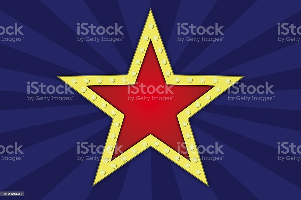 Star with lamps. vector art illustration
