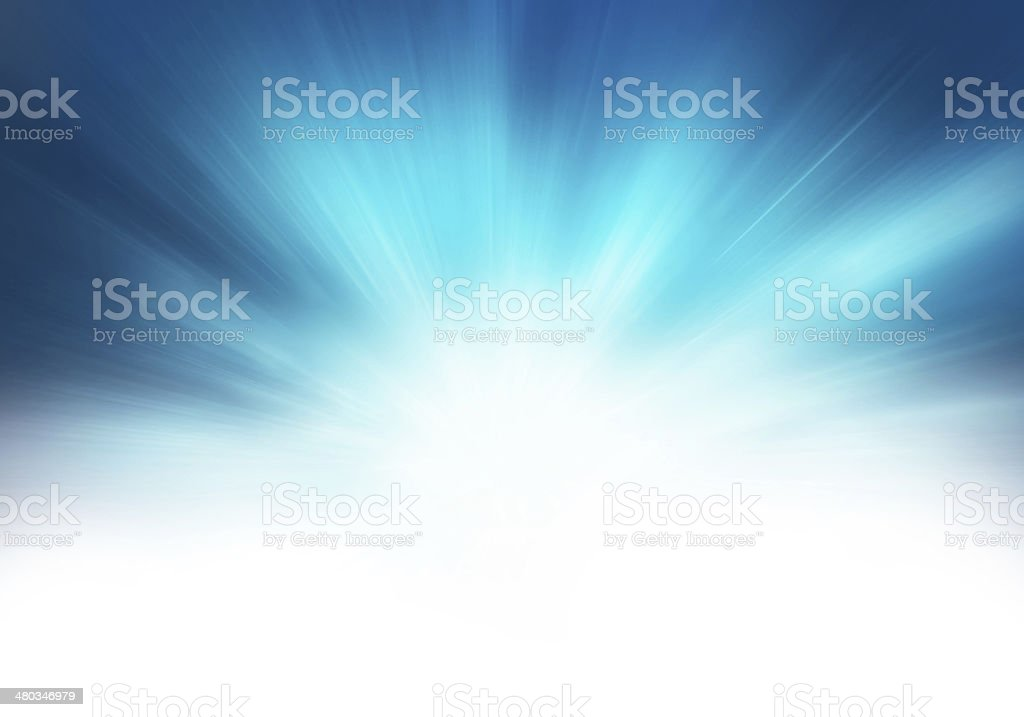 starburst blue abstract background vector art illustration