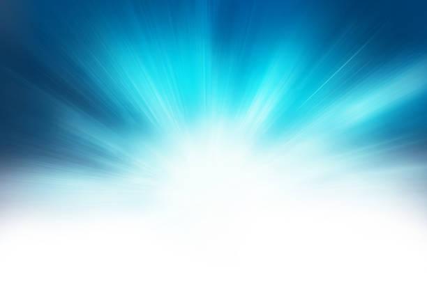 スターバーストの青の抽象的な背景 - 朝日点のイラスト素材/クリップアート素材/マンガ素材/アイコン素材