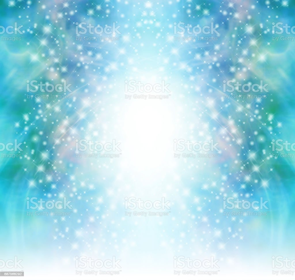 Starry glittery green sparkling background vector art illustration