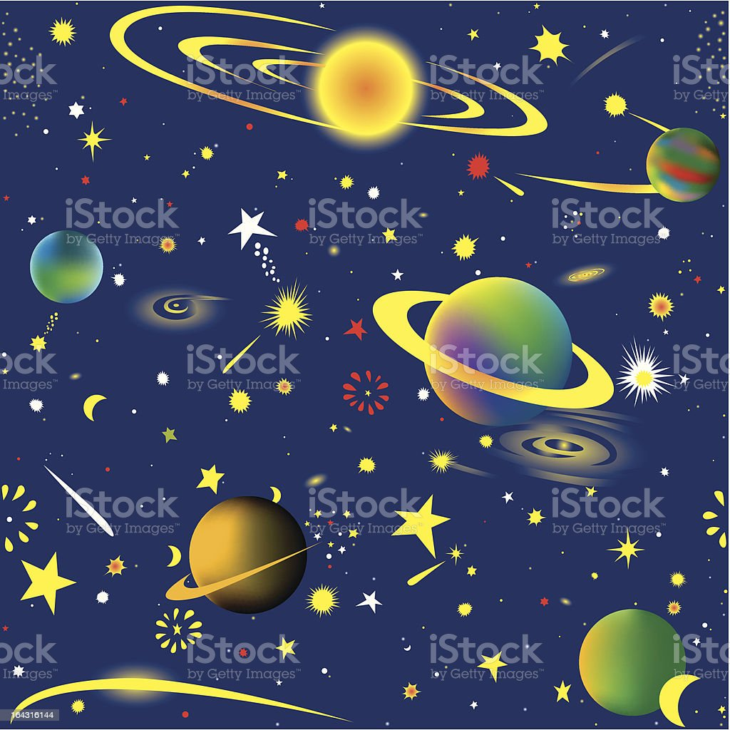 Starry night seamless background royalty-free stock vector art