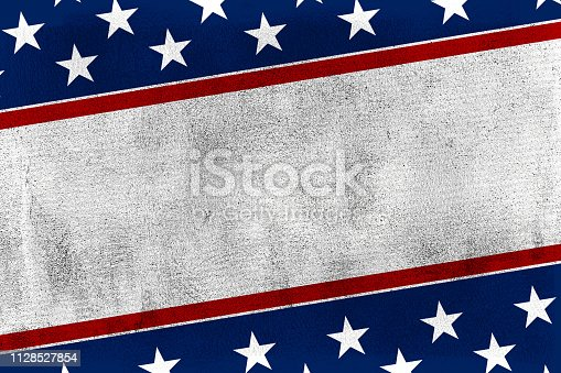 USA background, with american flag elements on paper backdrop, vintage style.