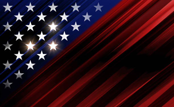 USA stars and stripes illustration background USA flag reinterpretation. USA flag stars on red and blue backdrop. Layer effect and color manipulation with Photoshop. uncle sam stock illustrations