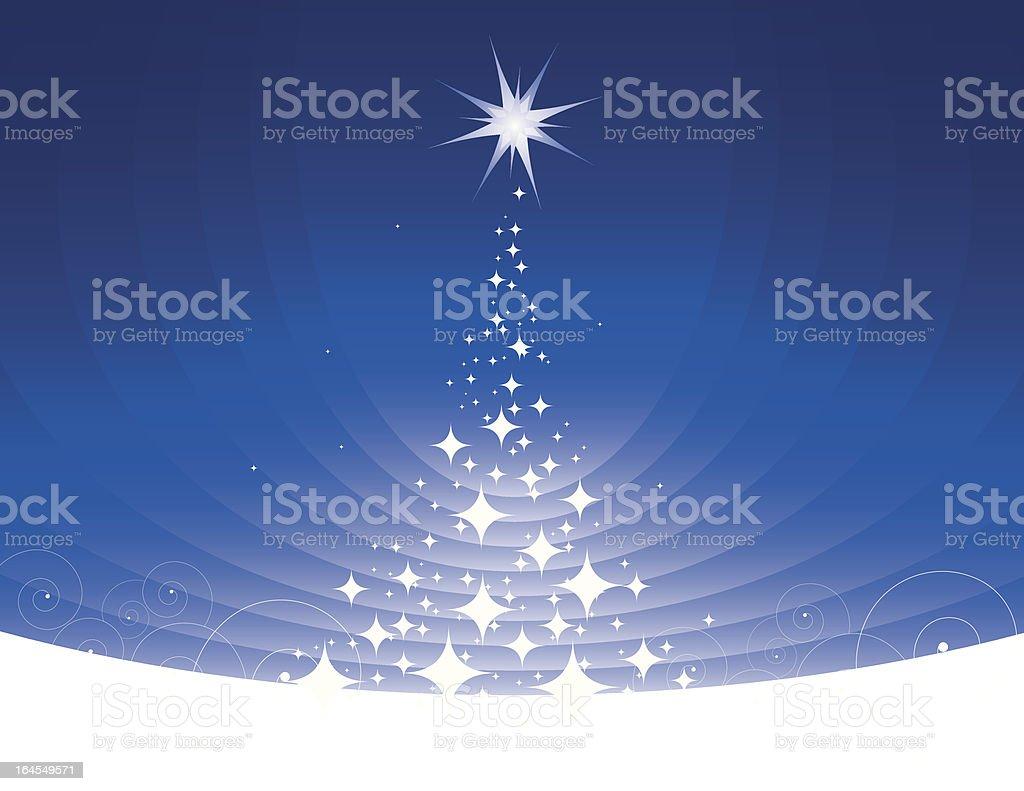 Stars Christmas Tree royalty-free stock vector art