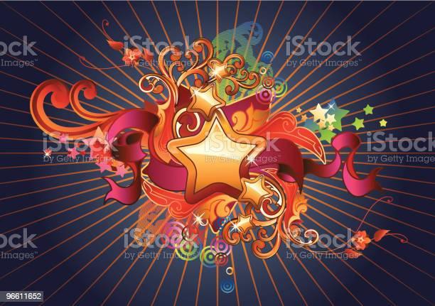 Stars Ribbon-vektorgrafik och fler bilder på Abstrakt