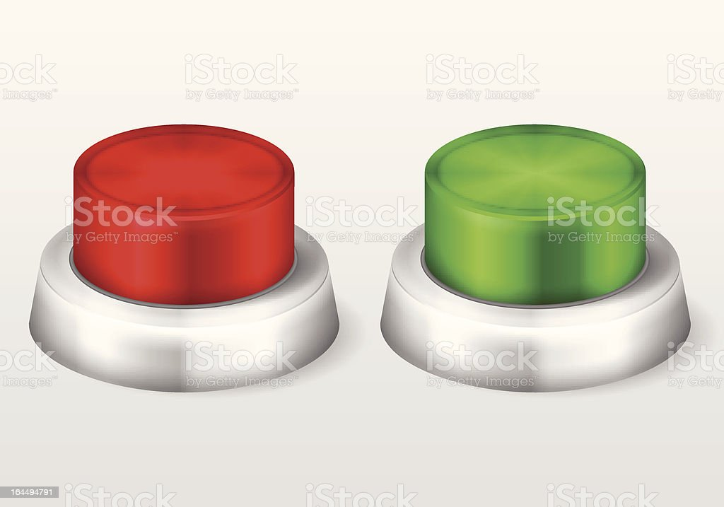 start stop buttons royalty-free stock vector art