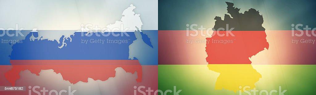 states government outline modern map regular design graphic vector art illustration