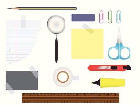 Stationery Set Stock Illustration - Download Image Now