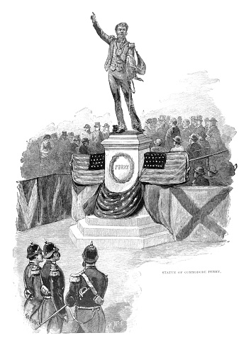 Statue Of Commordore Perry
