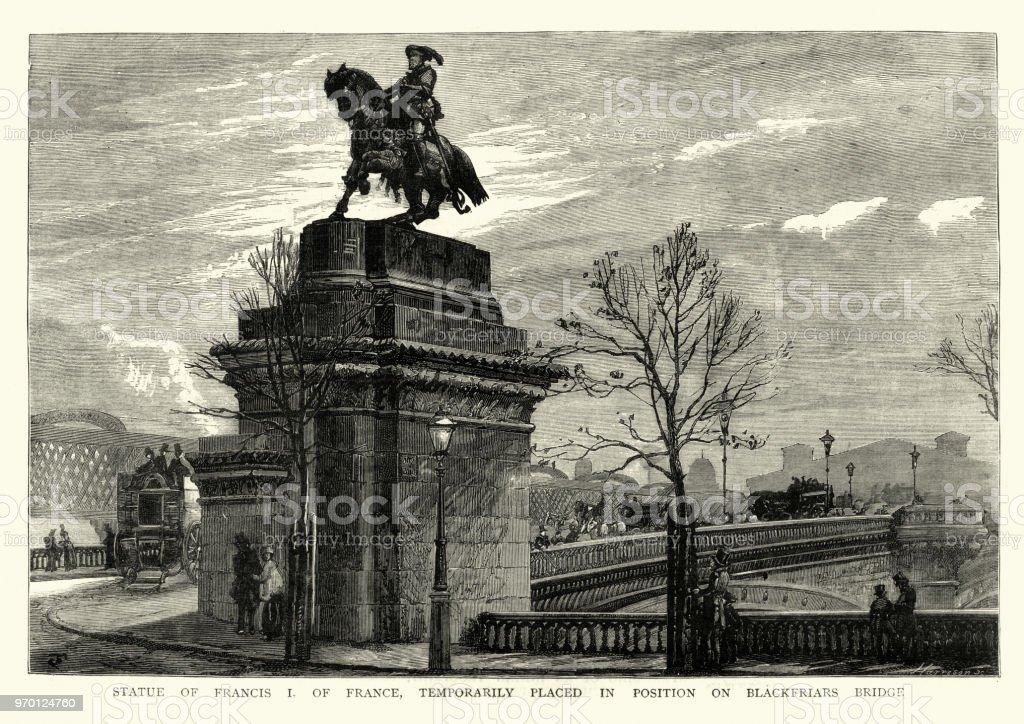 フランソワ 1 世の像 1884 年フランスブラックフライアーズ ブリッジ ...