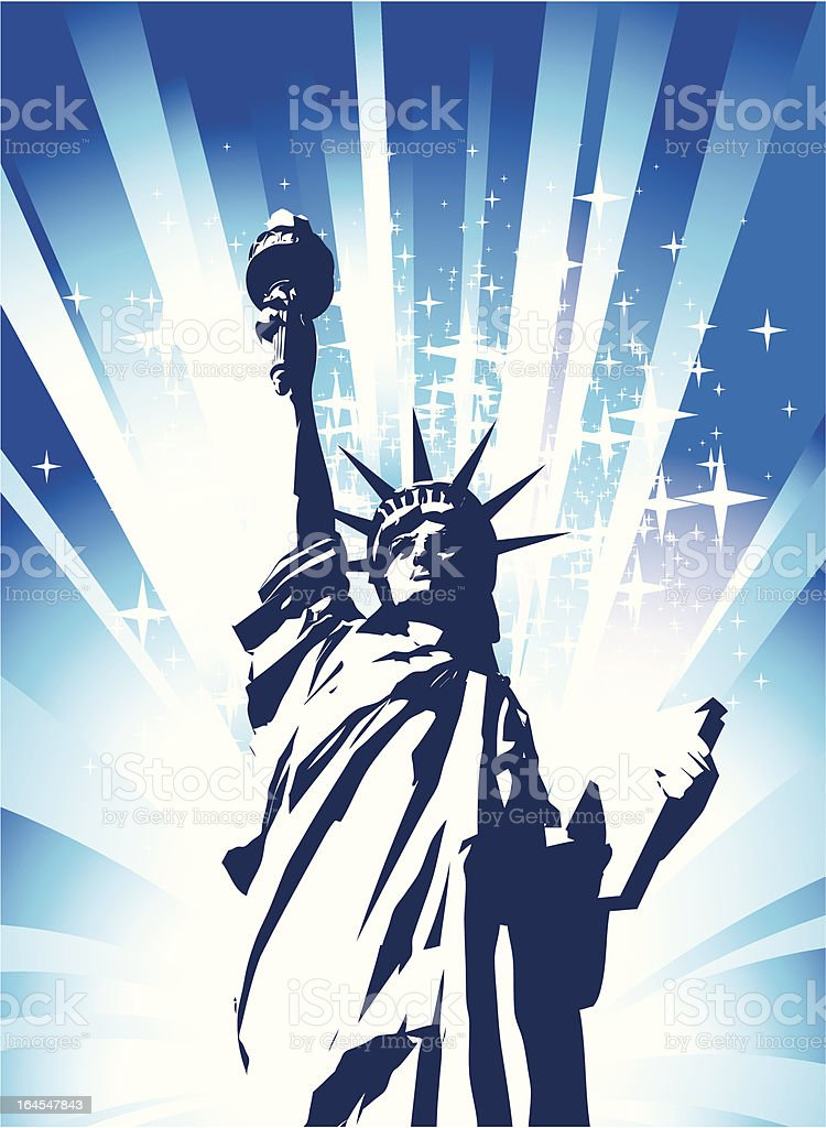 Statue of Liberty royalty-free stock vector art