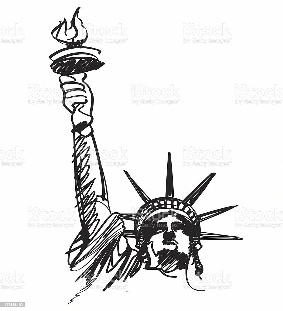 royalty free statue of liberty clip art vector images rh istockphoto com statue of liberty clipart black and white clipart statue of liberty torch