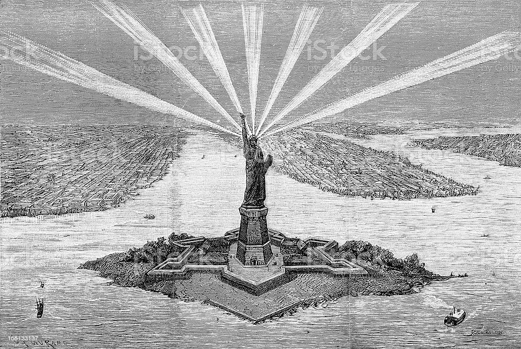 Statue of Liberty's project sketch royalty-free statue of libertys project sketch stock vector art & more images of 19th century style