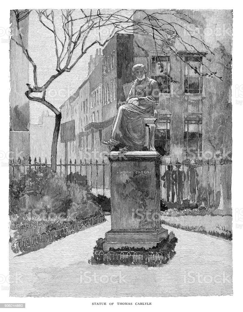 トーマス ・ カーライルの像 ベクターアートイラスト