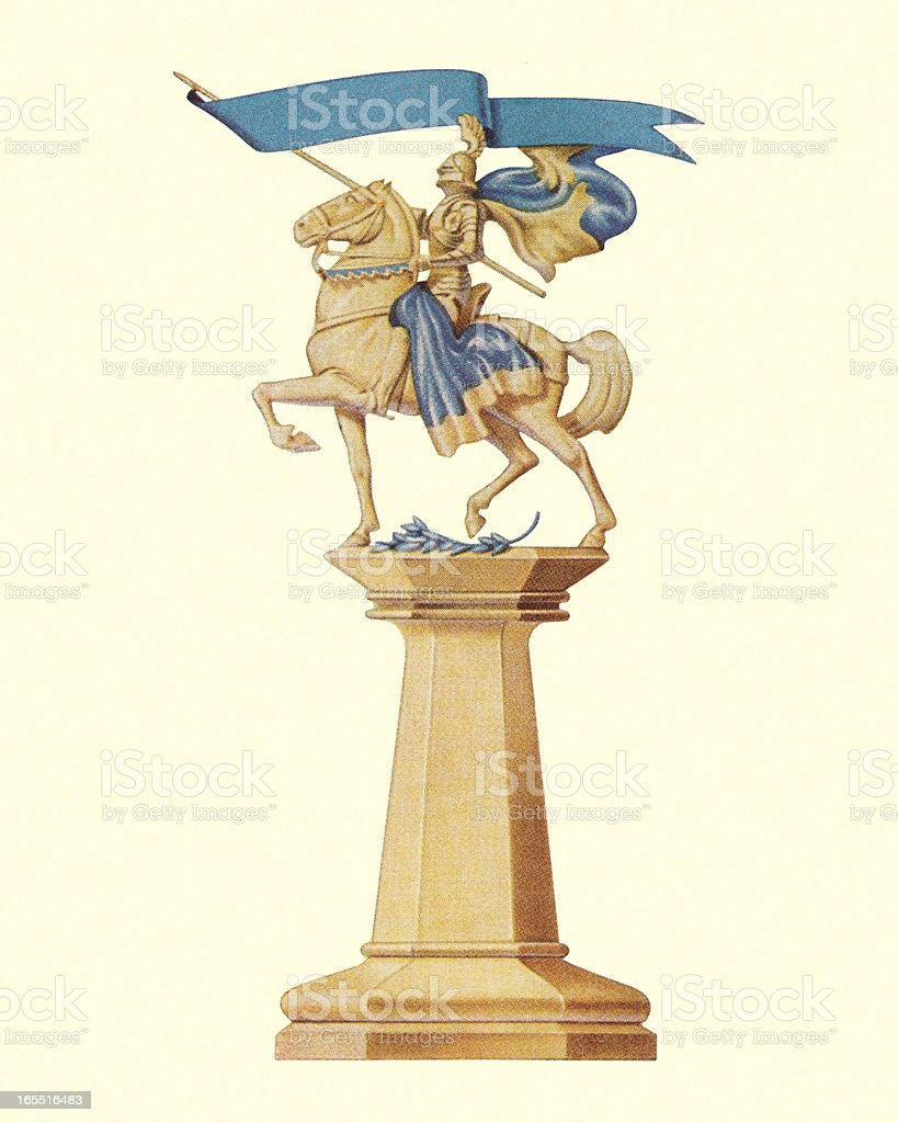 Statue on a Pedestal royalty-free stock vector art