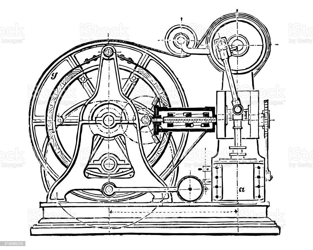 Steam elevator vector art illustration