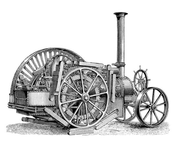 Best Antique Tractor Illustrations, Royalty-Free Vector ...