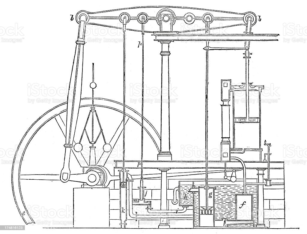 Steam Engine Stock Vector Art More Images Of 19th Century Diagram Royalty Free Amp