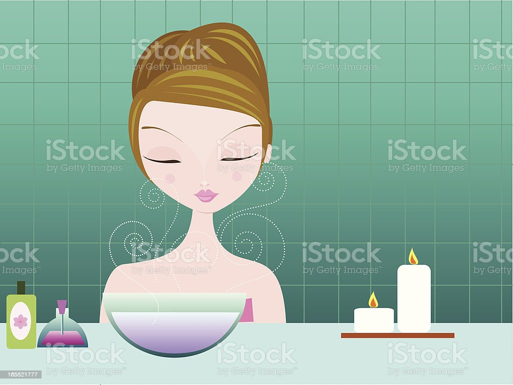Steam Facial royalty-free steam facial stock vector art & more images of adult