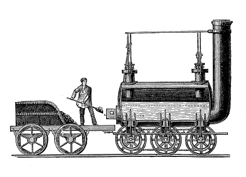 Steam locomotive by George Stephenson, 1814